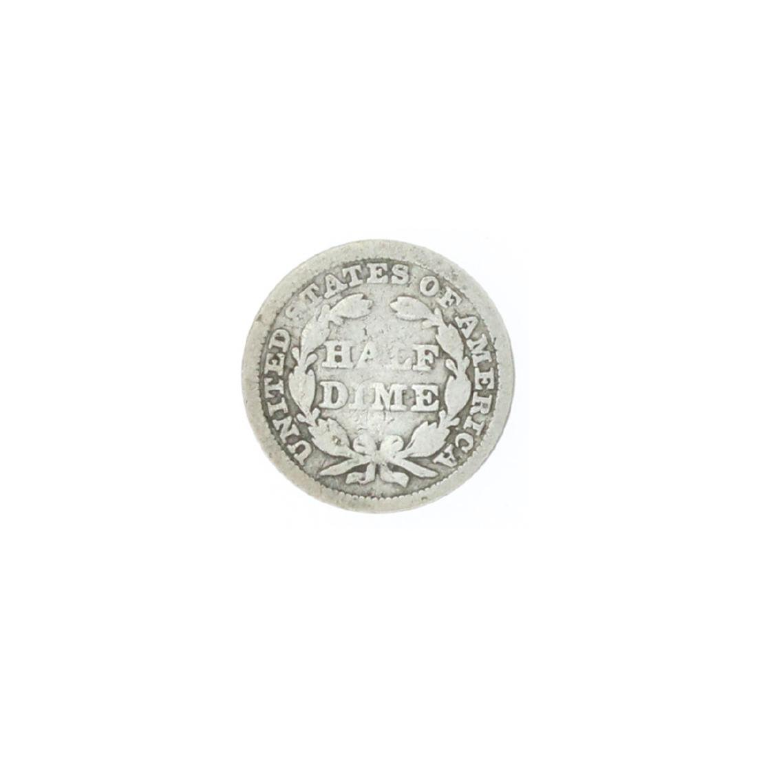 1857 Liberty Seated Half Dime Coin - 2