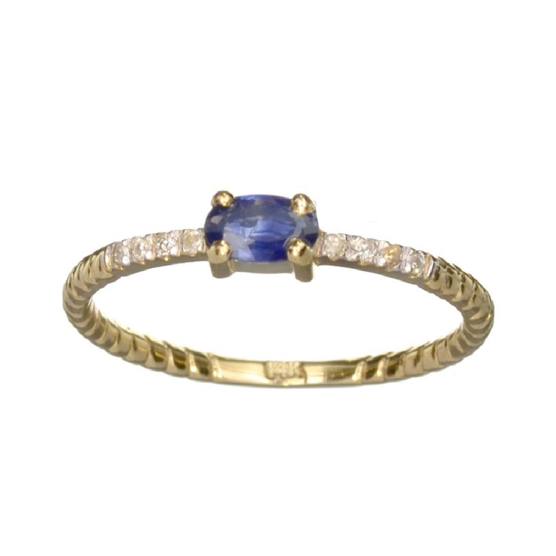 APP: 0.7k Fine Jewelry 14 KT Gold, 0.28CT Blue Sapphire