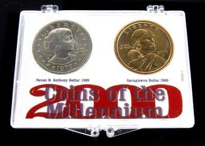 6016: 1979 Susan B. Anthony and 2000 Sacagawea Dollar C