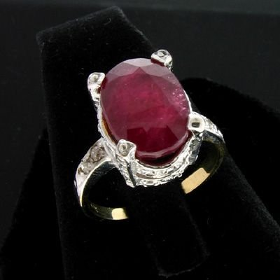 6001: APP: 5.5k 14 kt. Gold, 5.82CT Ruby and Dia. Ring