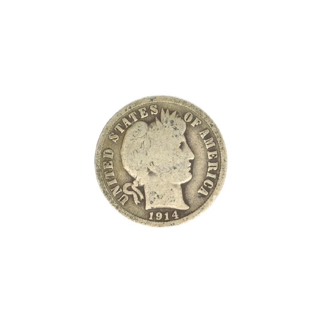 1914 Barber Head Dime Coin