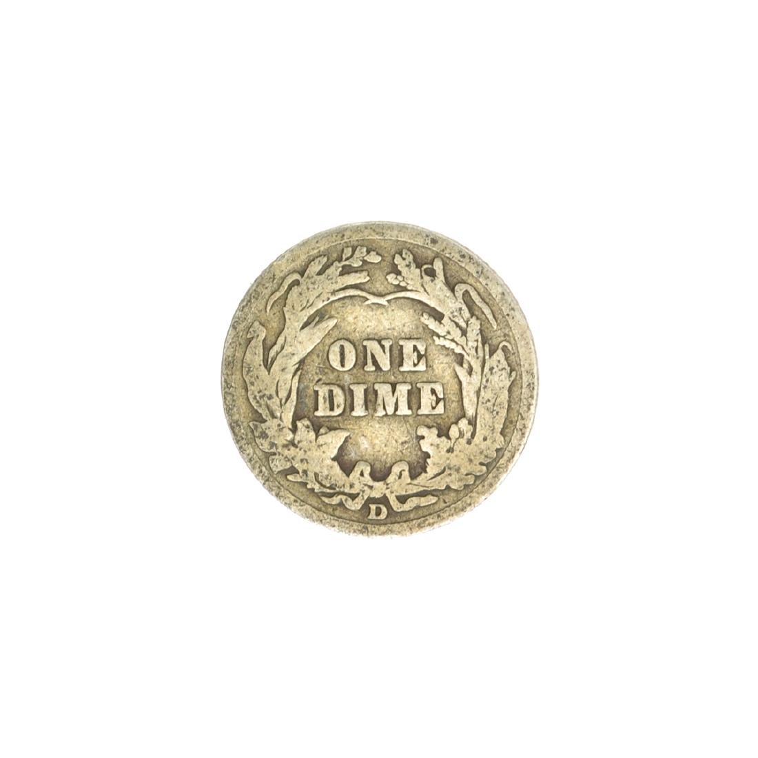 1914 Barber Head Dime Coin - 2