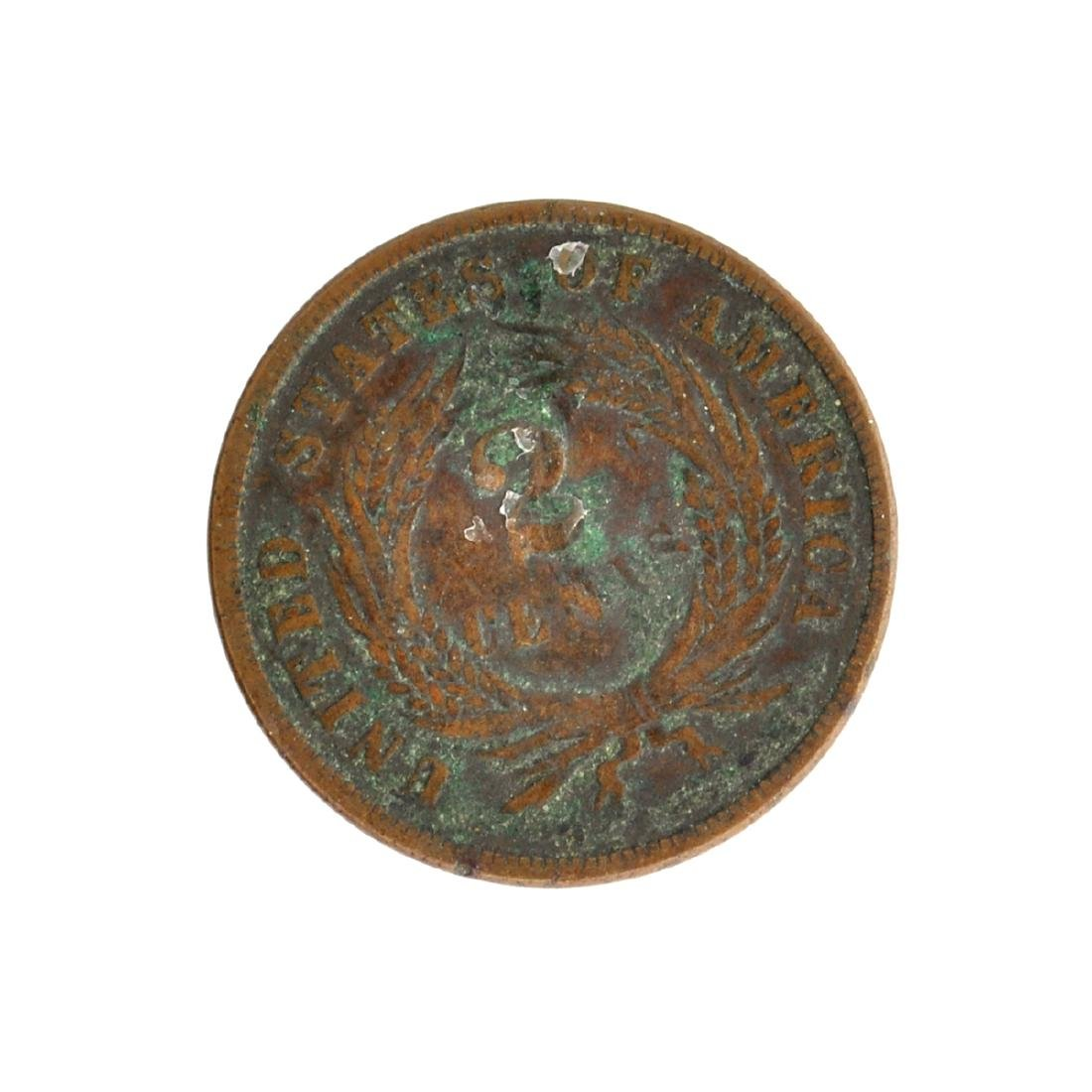 1866 Two-Cent Coin - 2