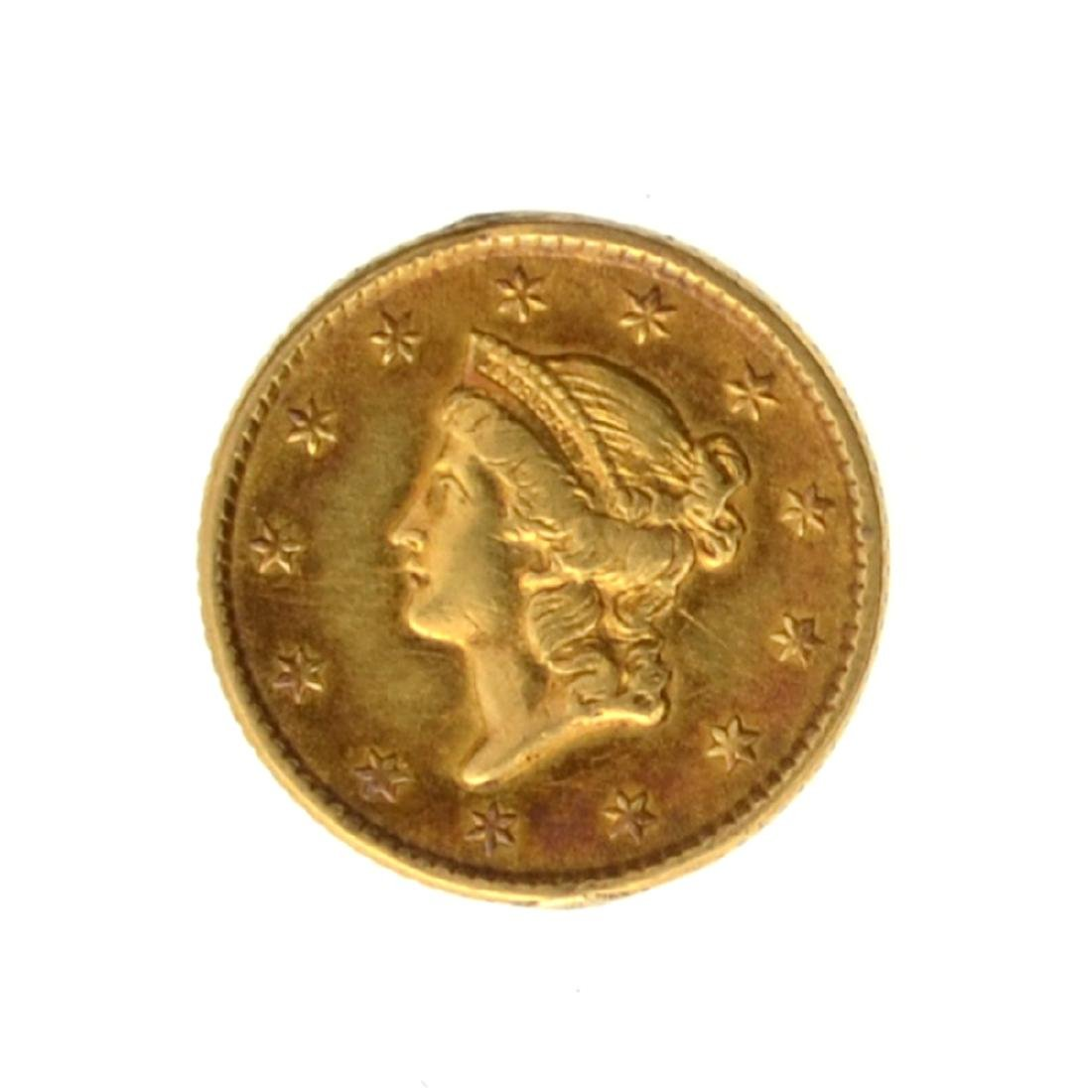 *1853 $1 U.S. Liberty Head Gold Coin - Great Investment