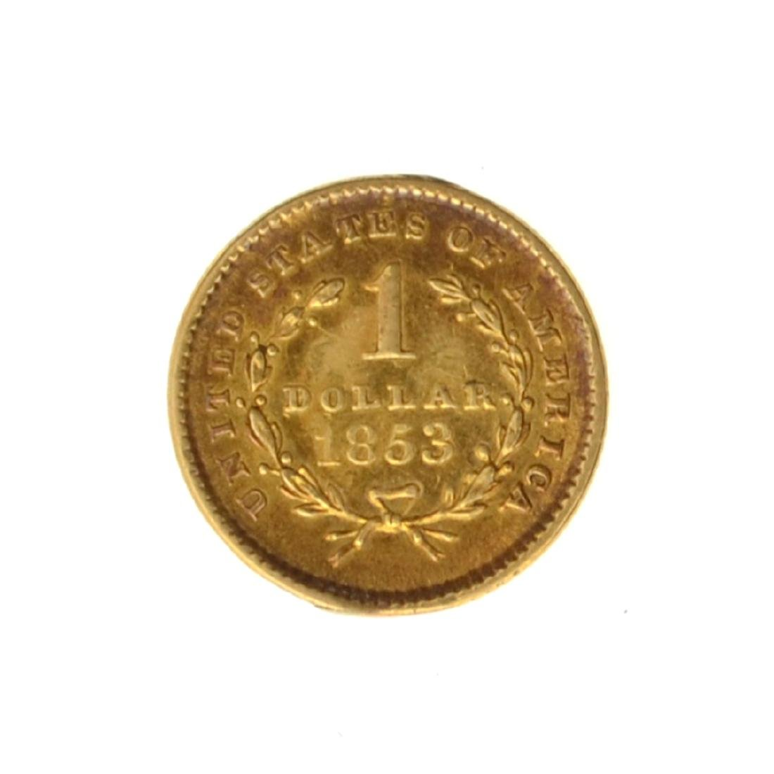 *1853 $1 U.S. Liberty Head Gold Coin - Great Investment - 2
