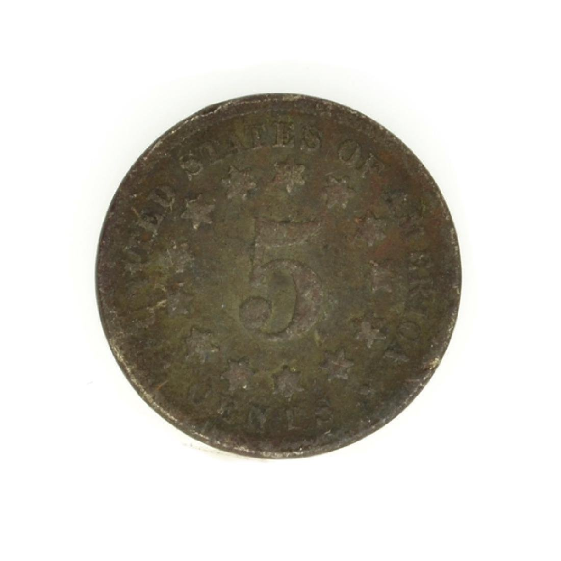 Shield Type Five Cent Coin