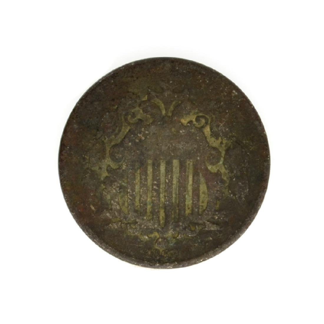 Shield Type Five Cent Coin - 2