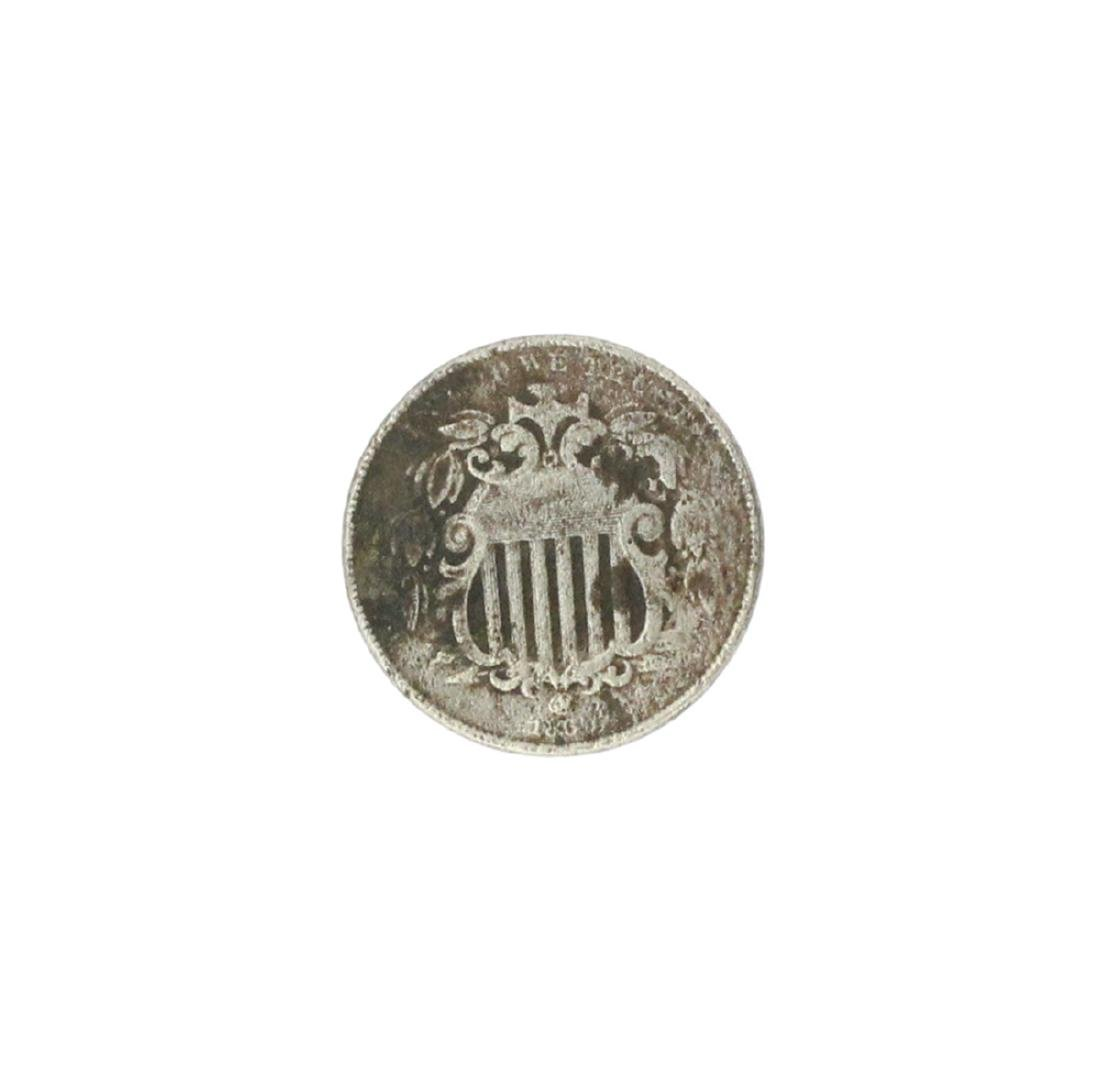 1866 Shield Nickel Coin - 2