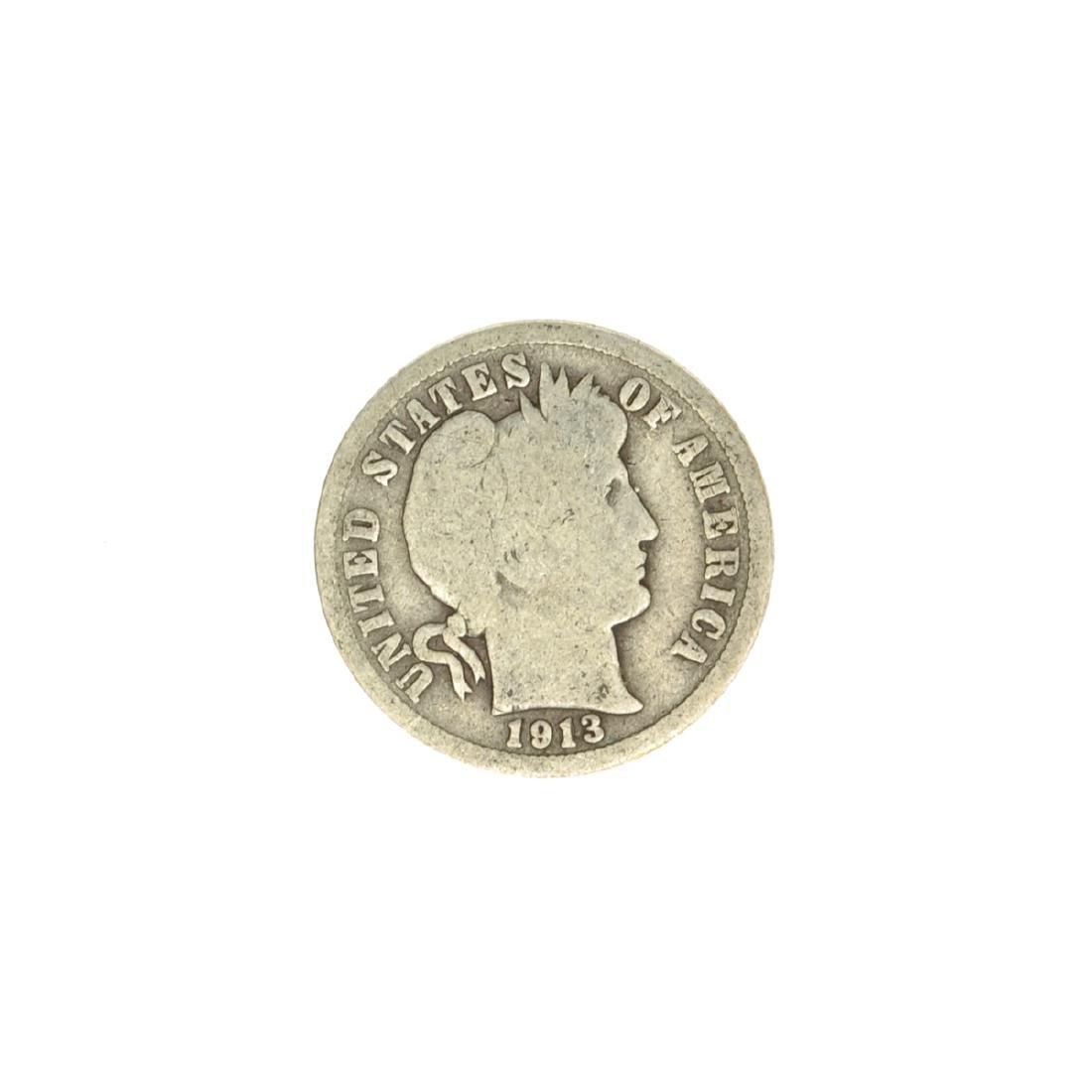 1913 Barber Head Dime Coin