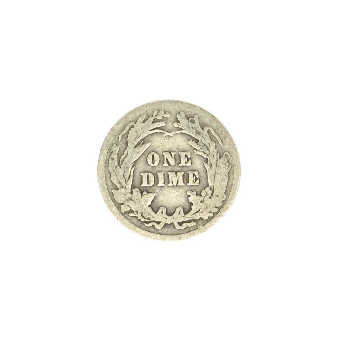 1913 Barber Head Dime Coin - 2