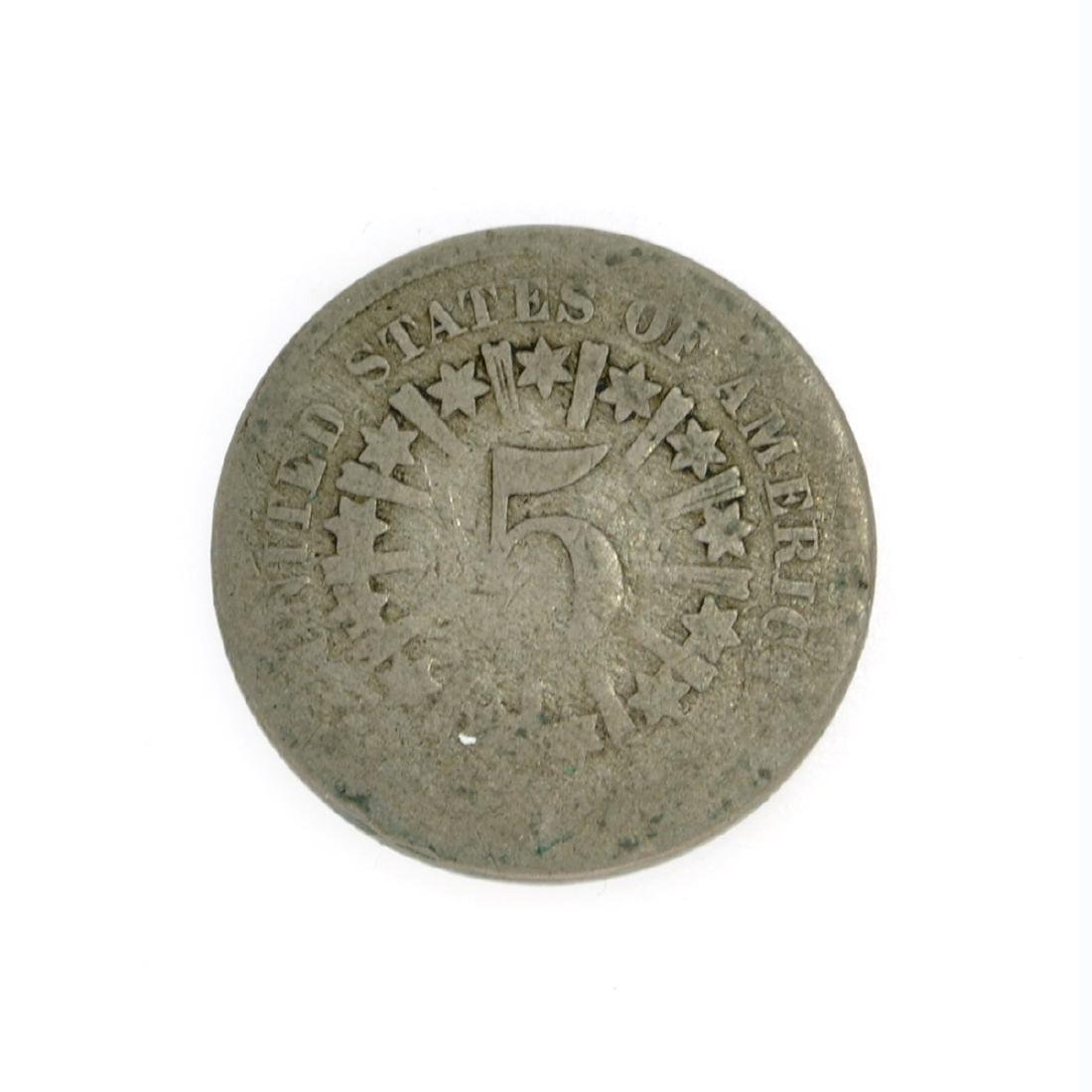 1866 Rays Shield Nickel Coin - 2