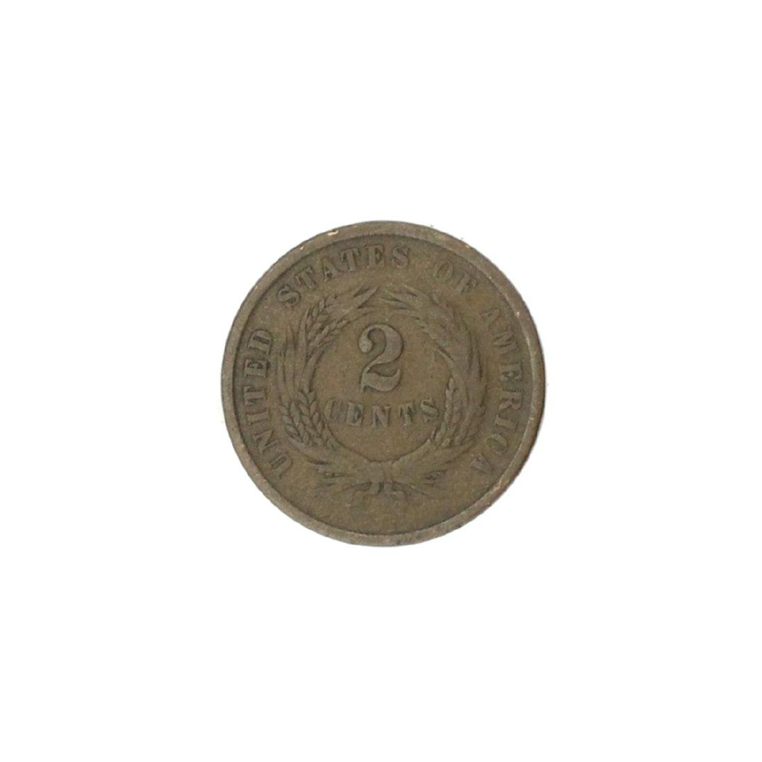 1864 Two-Cent Piece Coin