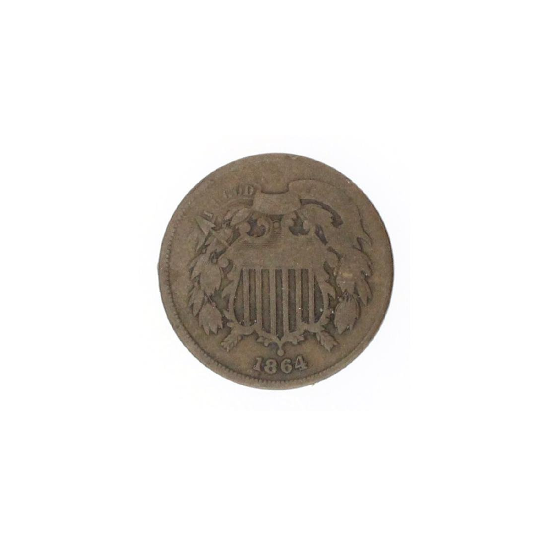 1864 Two-Cent Piece Coin - 2