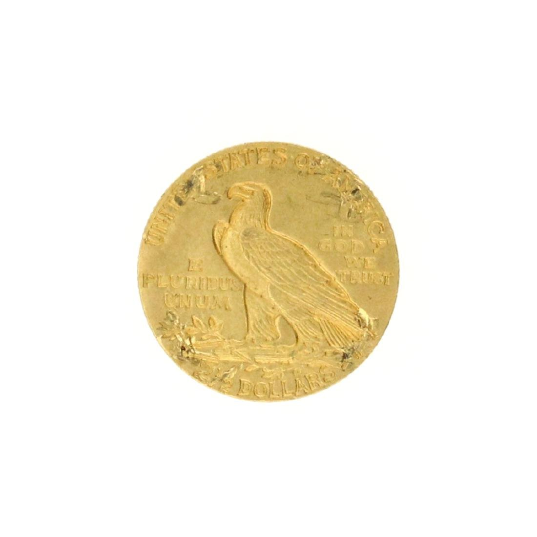 Extremely Rare 1910 $2.50 U.S. Indian Head Gold Coin - 2