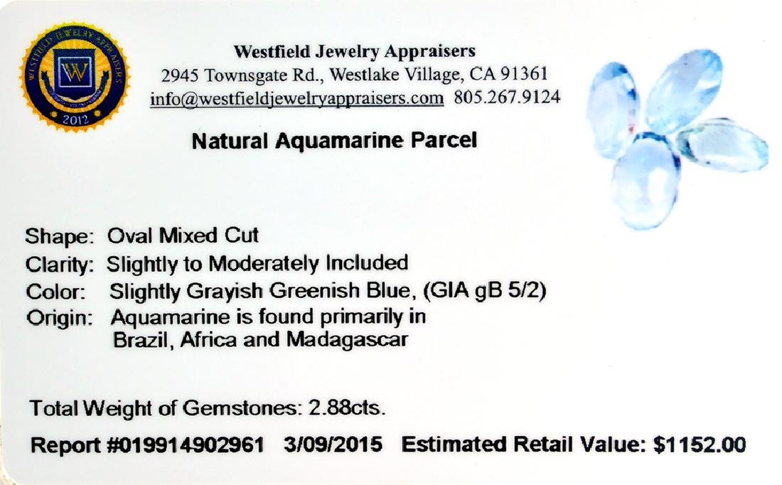 APP: 1.2k 2.88CT Oval Mixed Cut Natural Aquamarine
