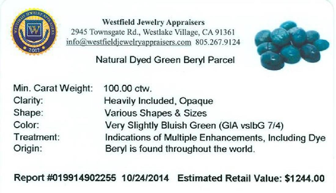 APP: 1.2k 100.00CT Various Shapes & Sizes Green Beryl - 2