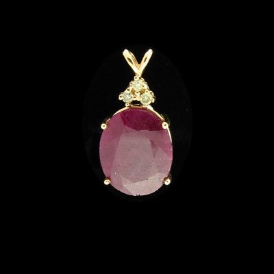 622: APP: 15.7k 14 kt. Gold, 16.75CT Ruby & 0.12CT Dia.