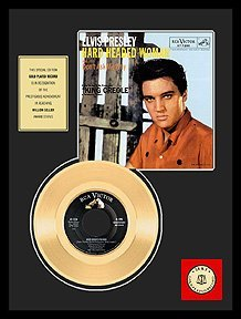 640: ELVIS PRESLEY ''Hard Headed Woman'' Gold LP