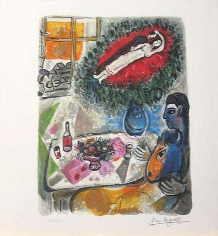 778: MARC CHAGALL Reverie Mini Lithograph