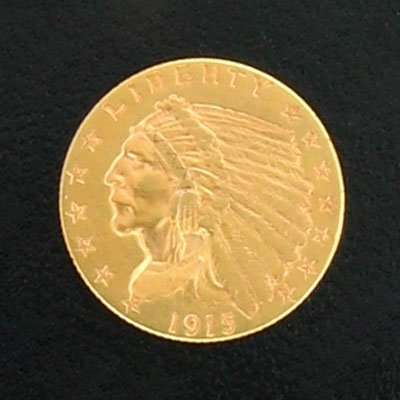 620: 1915 $2.5 Indian Head Type Gold Coin