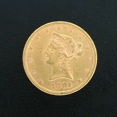4036: 1881-S $10 Gold Coin - Solid Investment!