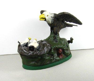 4044: Eagle Bank- Cast Iron- Collectible Curio