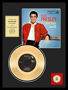 9: ELVIS PRESLEY ''One Night'' Gold Record, Invest!