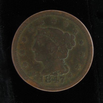 15: 1847 Large One Cent Coin, Investment Potential
