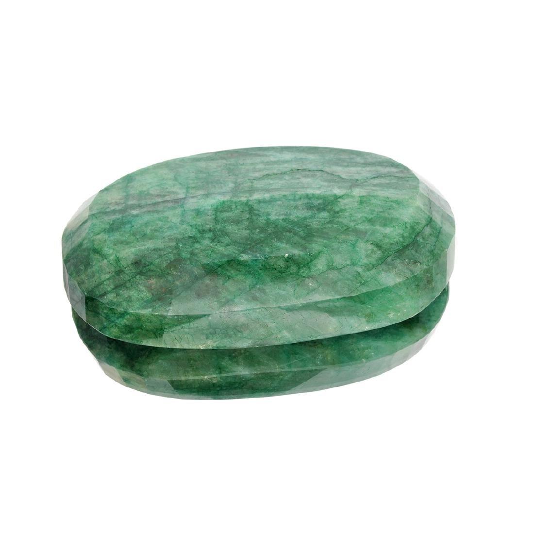 APP: 4.3k 1,711.20CT Oval Cut Green Beryl Emerald - 2