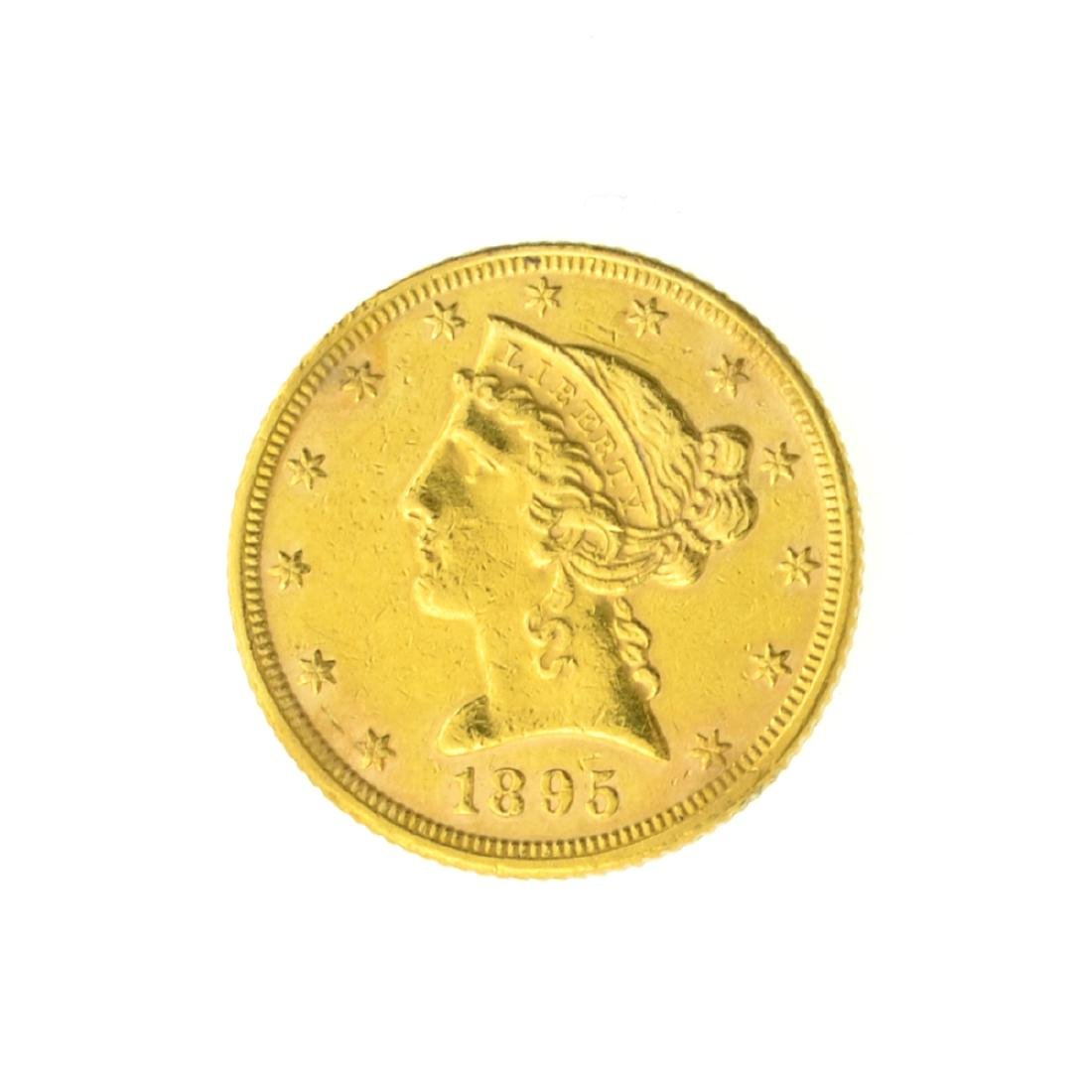 1895 $5.00 U.S. Liberty Head Gold Coin