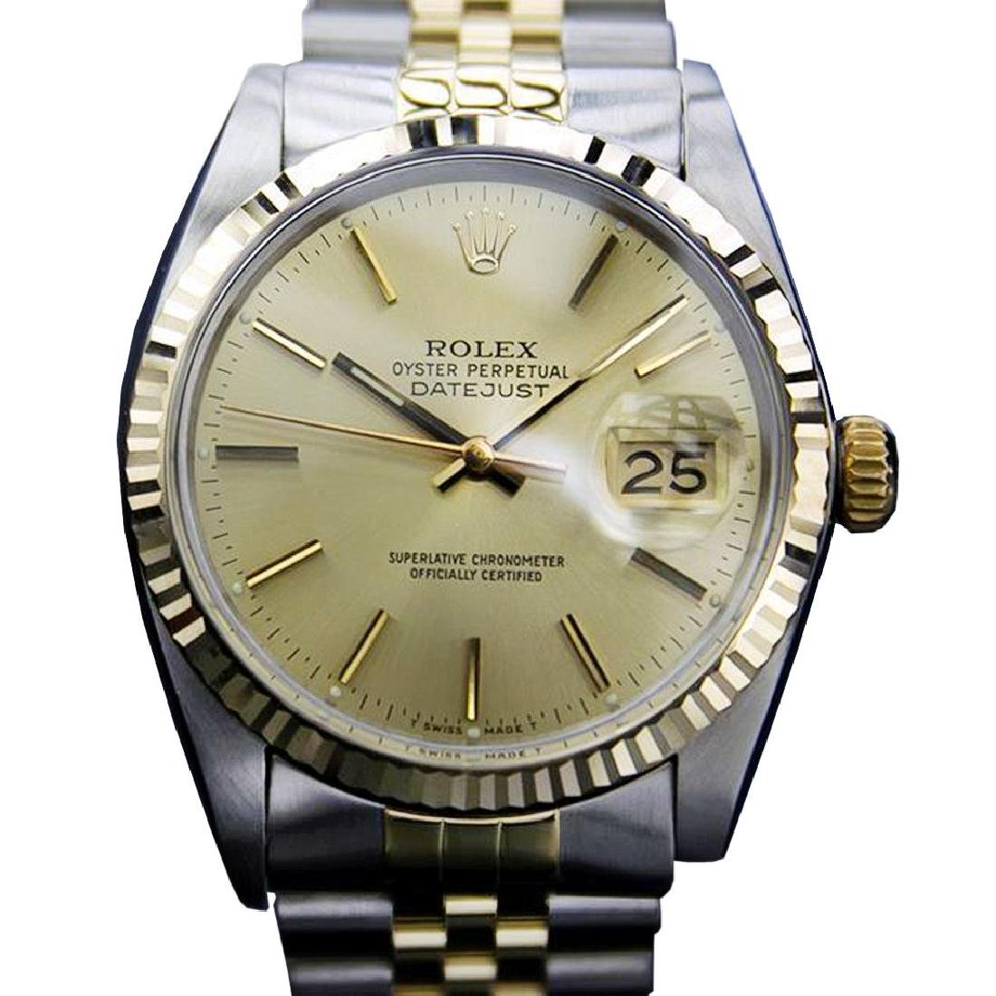 *Men's ROLEX 16013 Quickset 1980 Solid Gold & SS