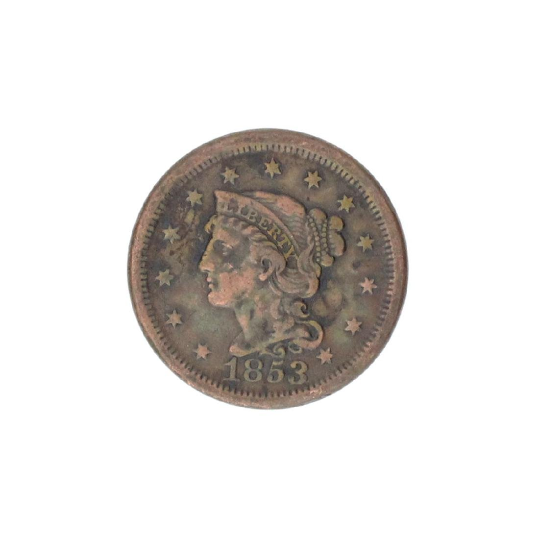 1853 Large Cent Coin