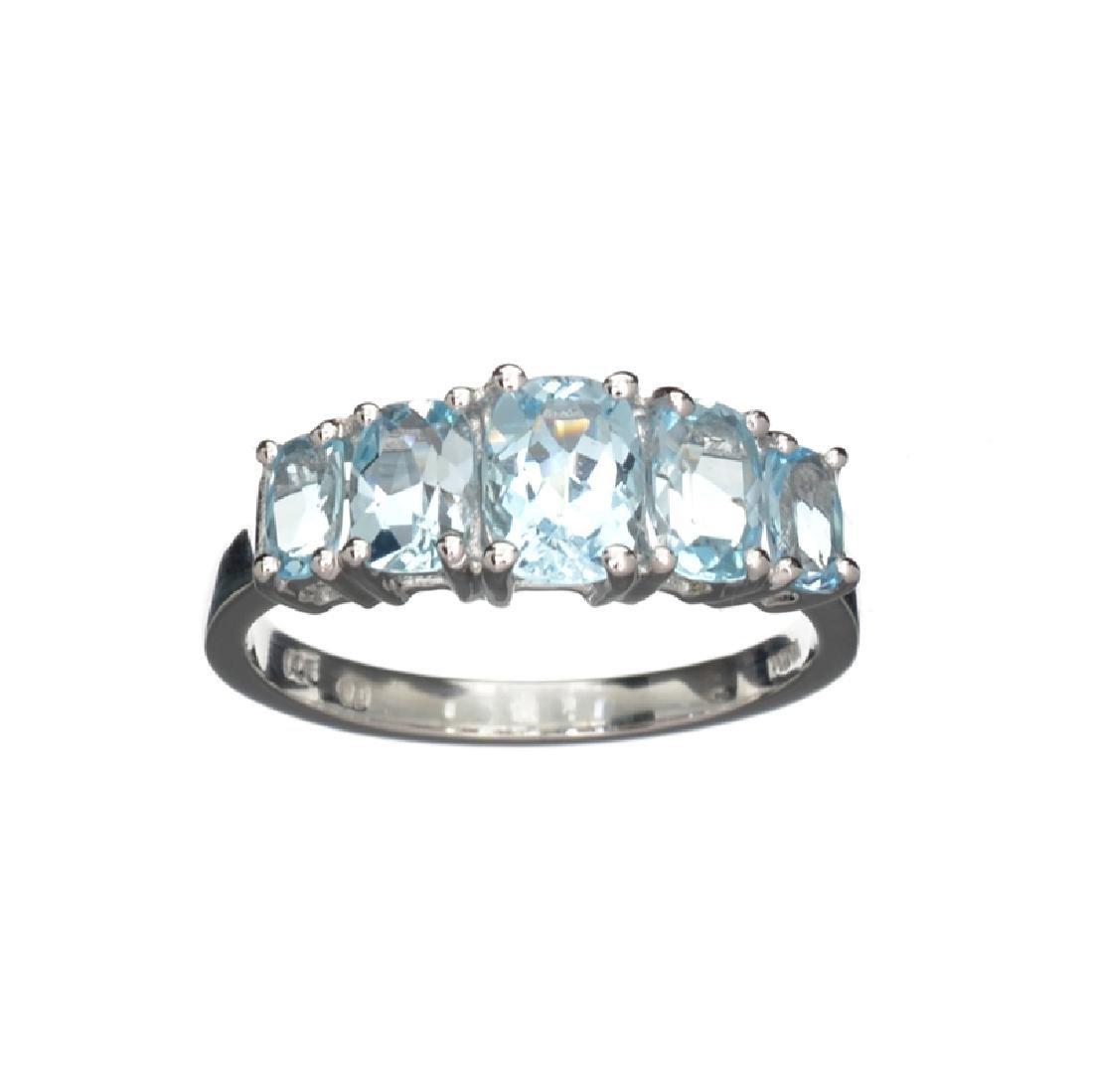 APP: 0.3k Fine Jewelry 3.00CT Cushion Cut Blue Topaz