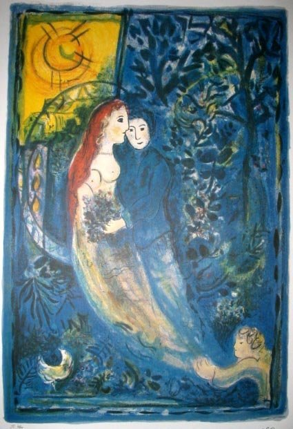1613: MARC CHAGALL The Wedding Lithograph-Limtd Editn
