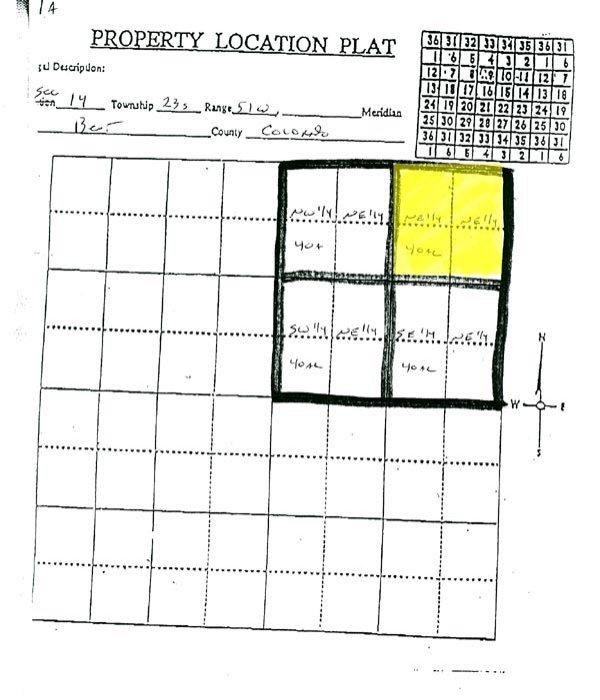 1616: GOV: CO LAND, 40 AC., RESERVOIR, SCENIC, STR SALE - 2