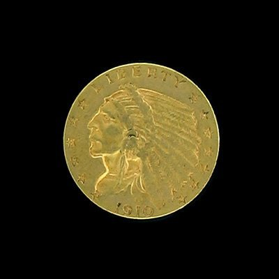 1623: 1910 $2.5 Indian Head Type Gold Coin-Investment