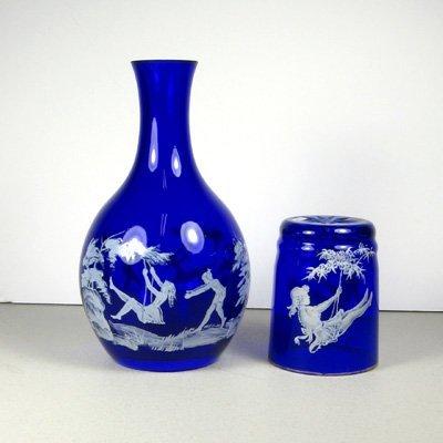 1: Cobalt Glassware Night Cap Set-Collectible