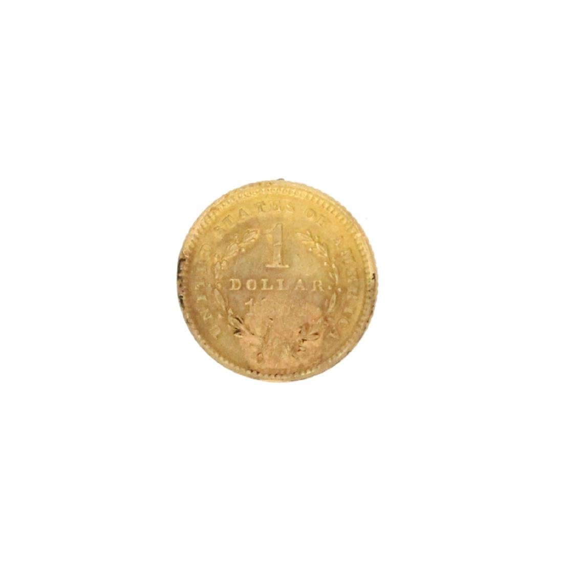 Extremely Rare 1851 $1  U.S. Liberty Head Gold Coin - 2