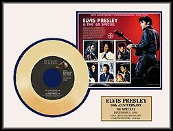 1607: ELVIS PRESLEY ''If I Can Dream'' Gold Record with
