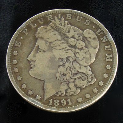 1613: 1891 Silver Dollar Coin-Collectible Investment