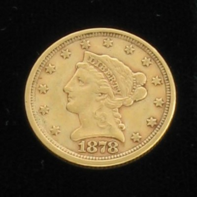 1623: 1878 $2.5 Coronet Type Gold Coin-Investment Poten