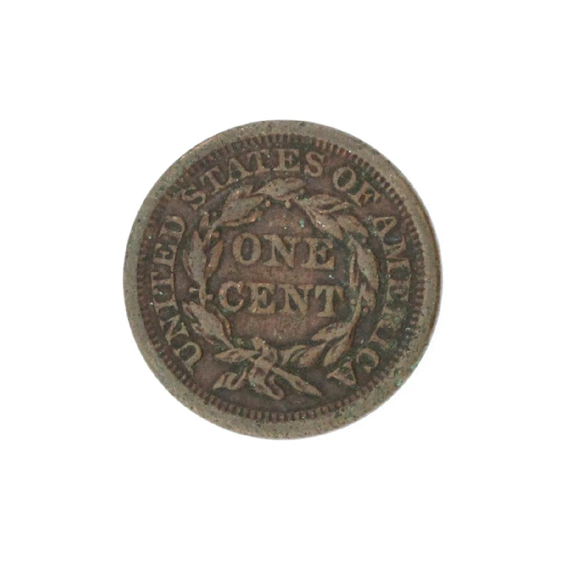 1856 Large Cent Coin - 2