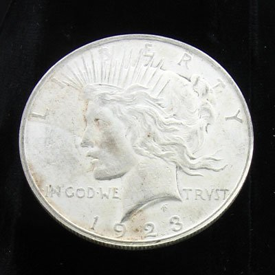 3203: 1923 Peace Type Silver Dollar Coin-Investment Pot