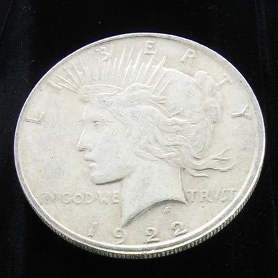 3213: 1922 Peace Type Silver Dollar Coin-Investment Pot