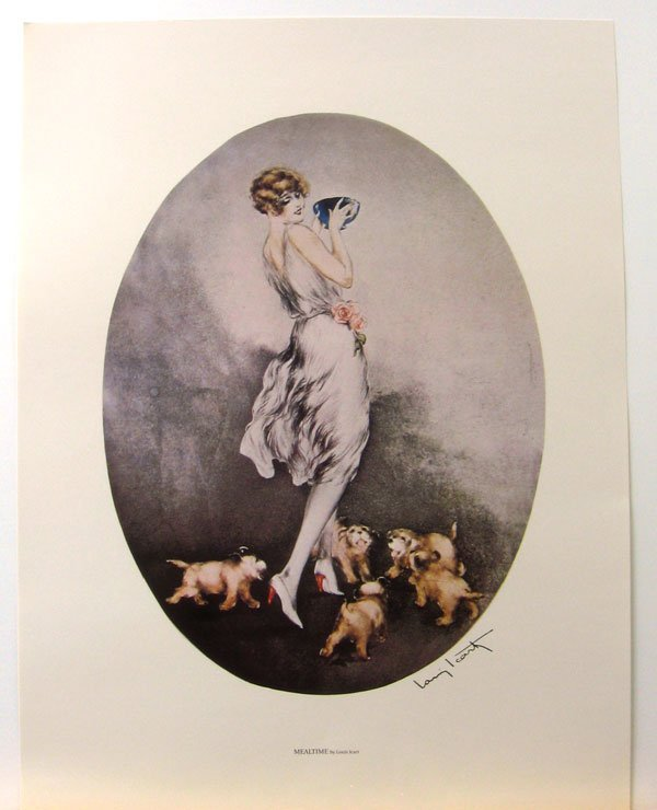 21: LOUIS ICART Mealtime Print, Open Edition