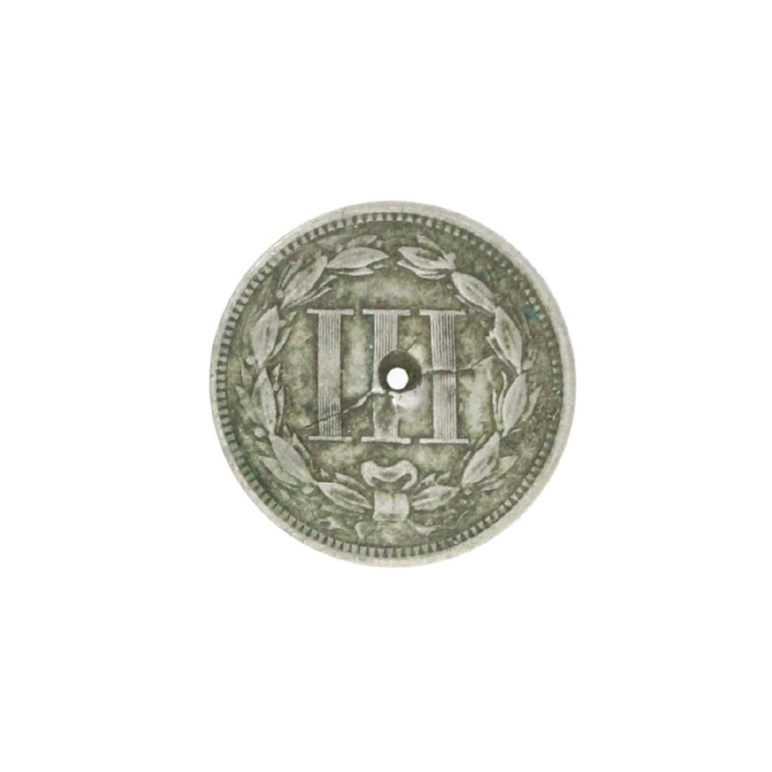 1866 Three Cent Piece Nickel Coin - 2