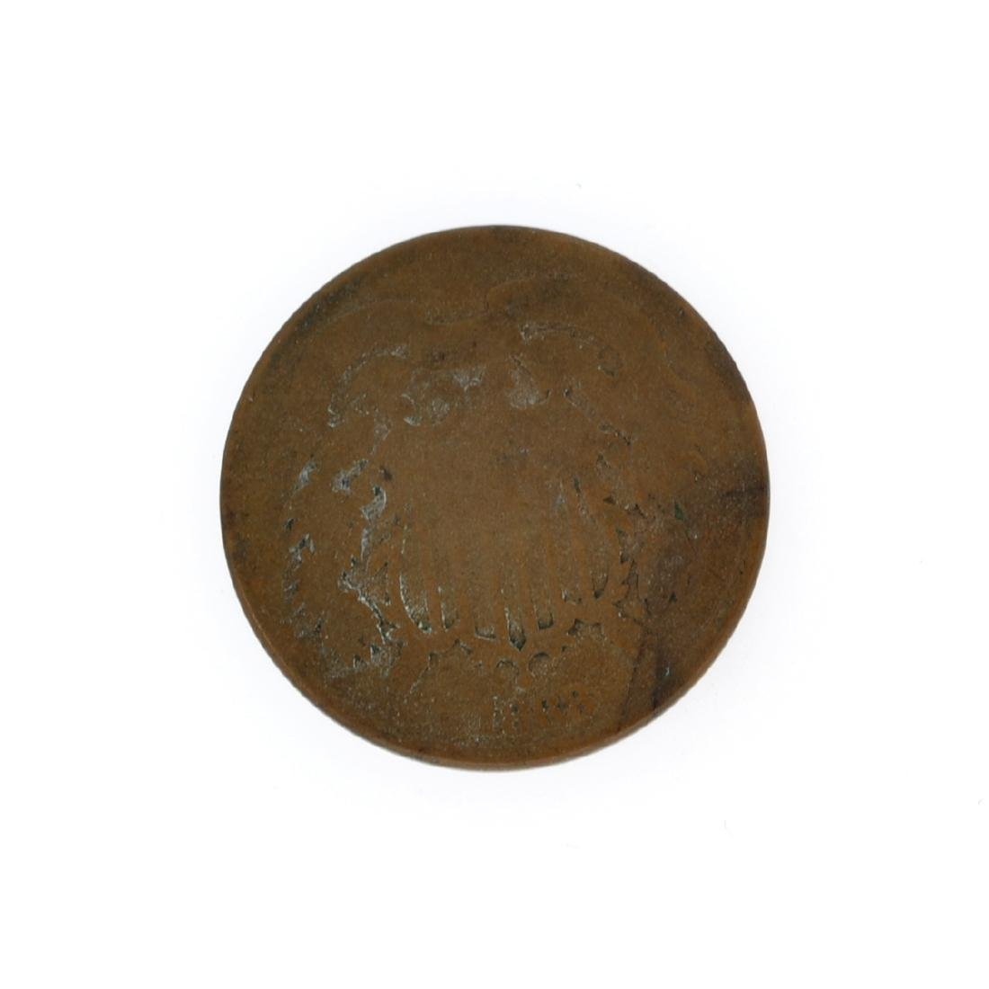 Rare 1868 Two-Cents Piece Coin