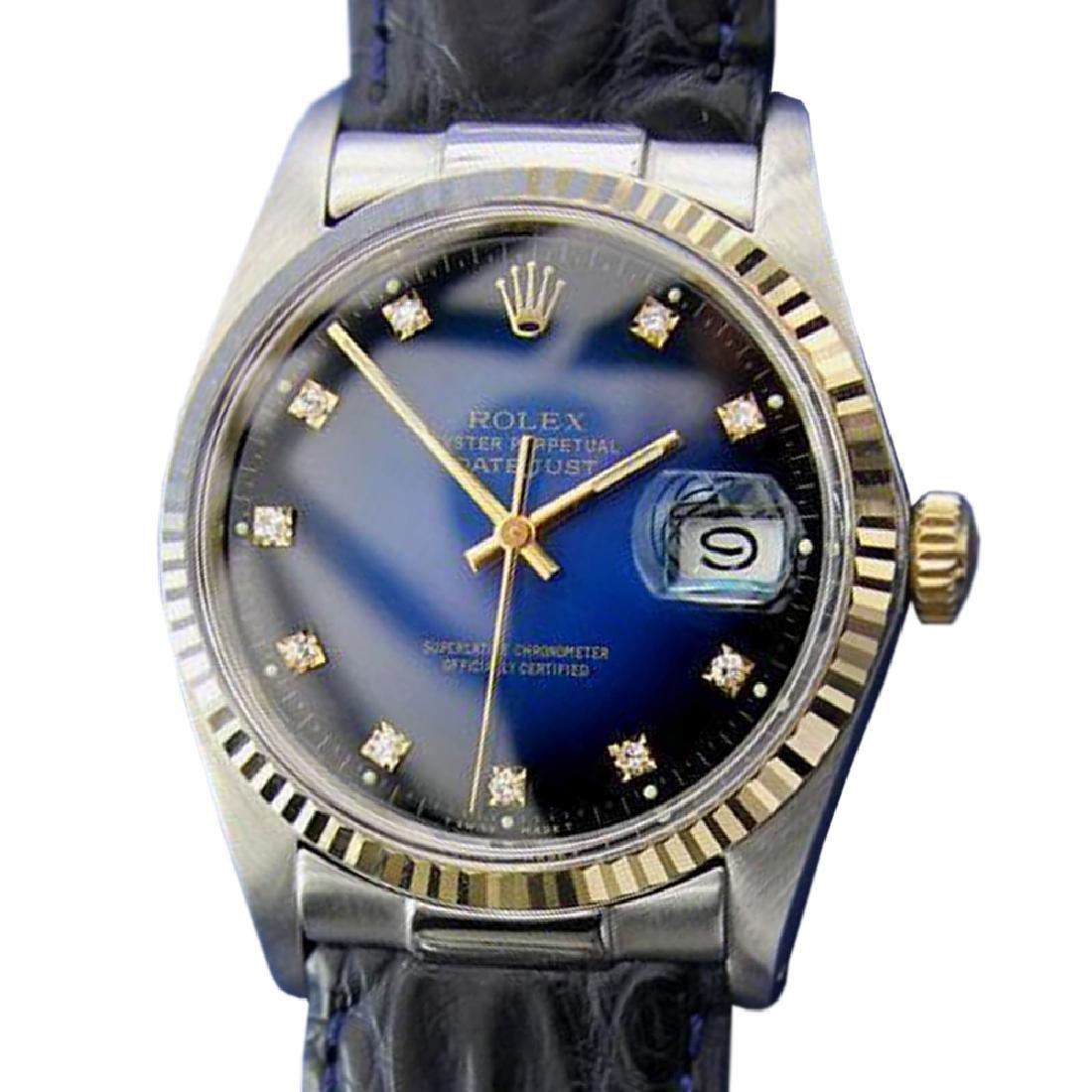 *Mens Swiss Rolex Oyster Datejust Vintage 16013 18K
