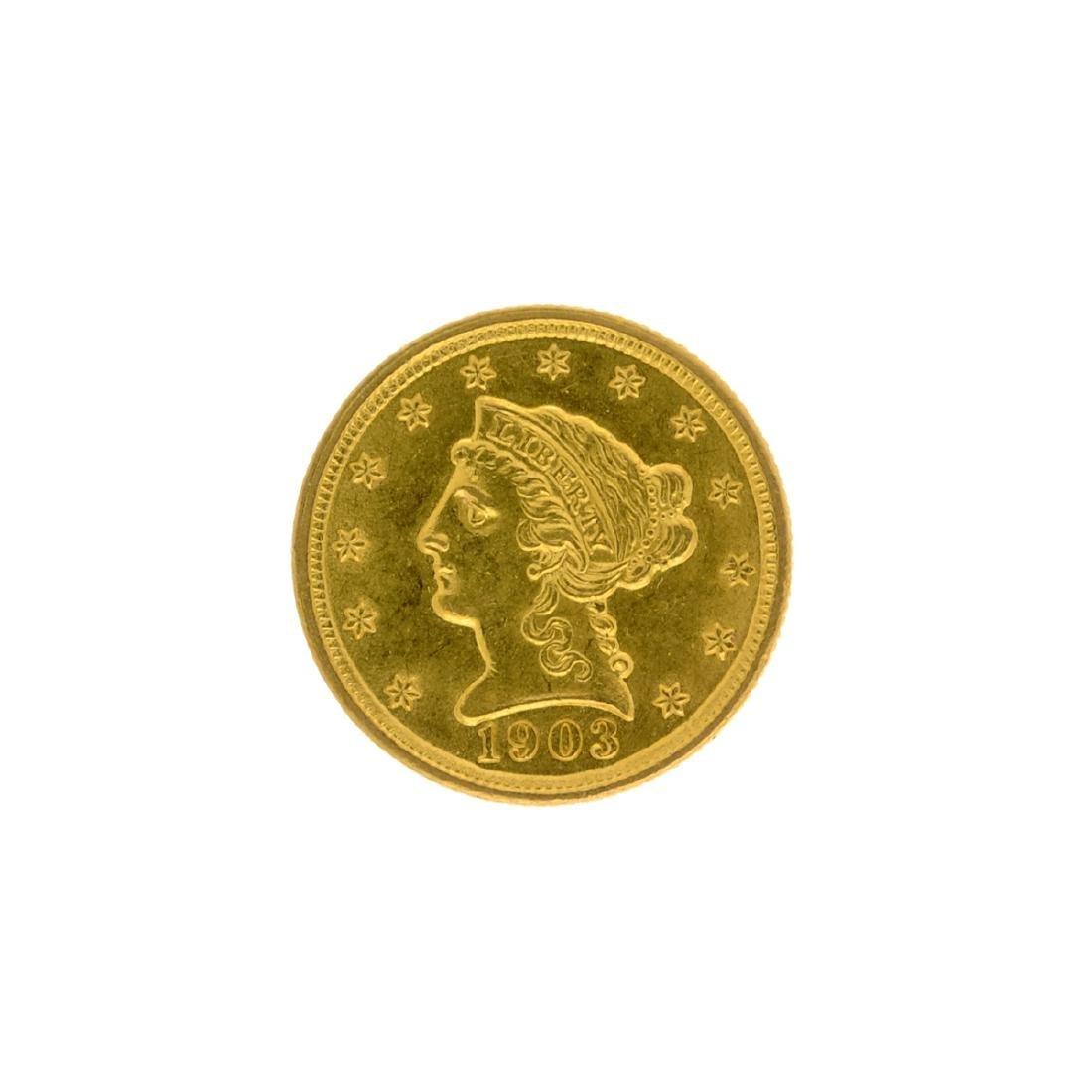 *1903 $2.5 Liberty Head Gold Coin (DF)