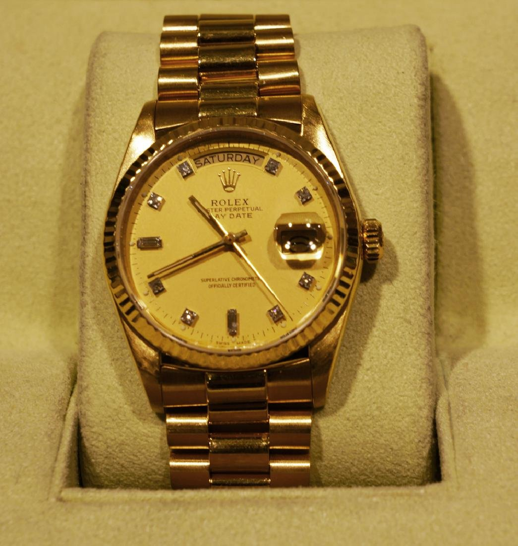 *Rolex Mens President Single Dial Watch-Original Box
